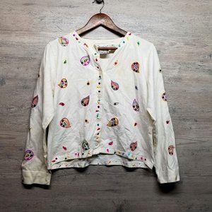 Vintage Michael Simon Embroidered Shirt. Perfect!